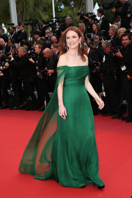 vestido de festa verde brilhante