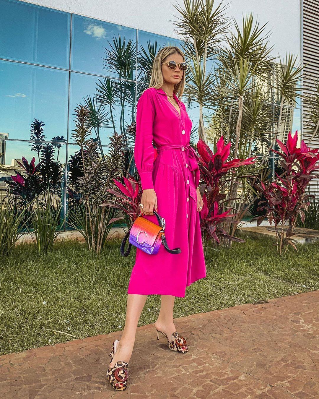 vestido pink thassia naves