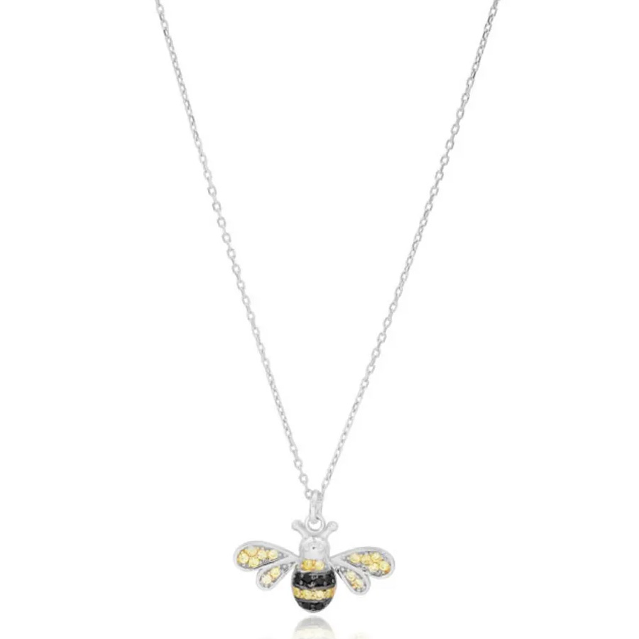 colar de abelha prata