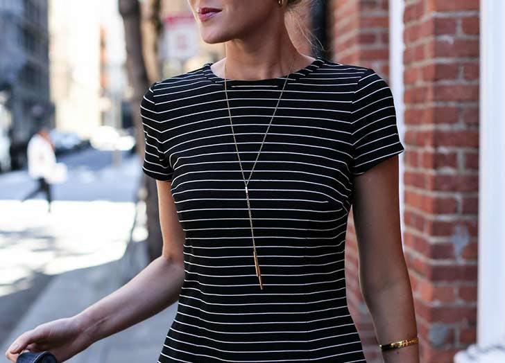 colar longo minimalista
