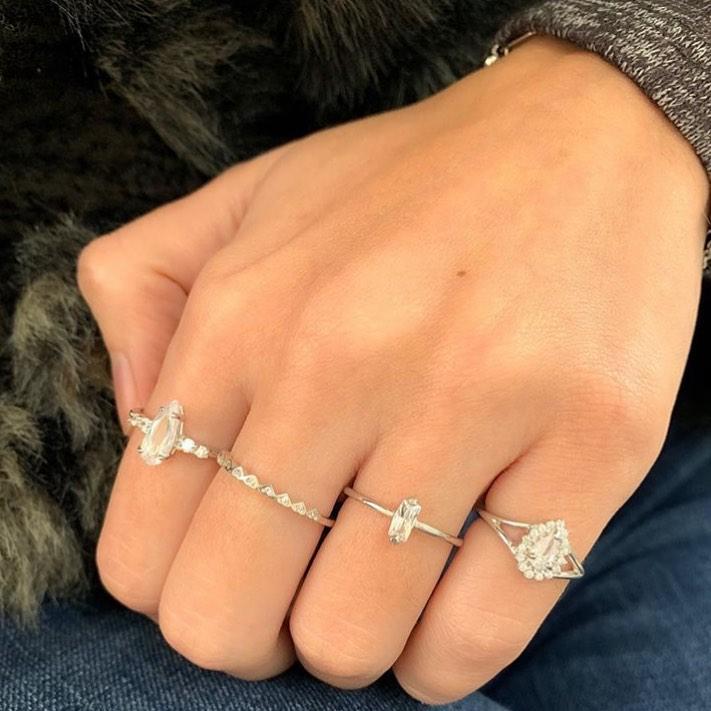 aneis delicados prata 925