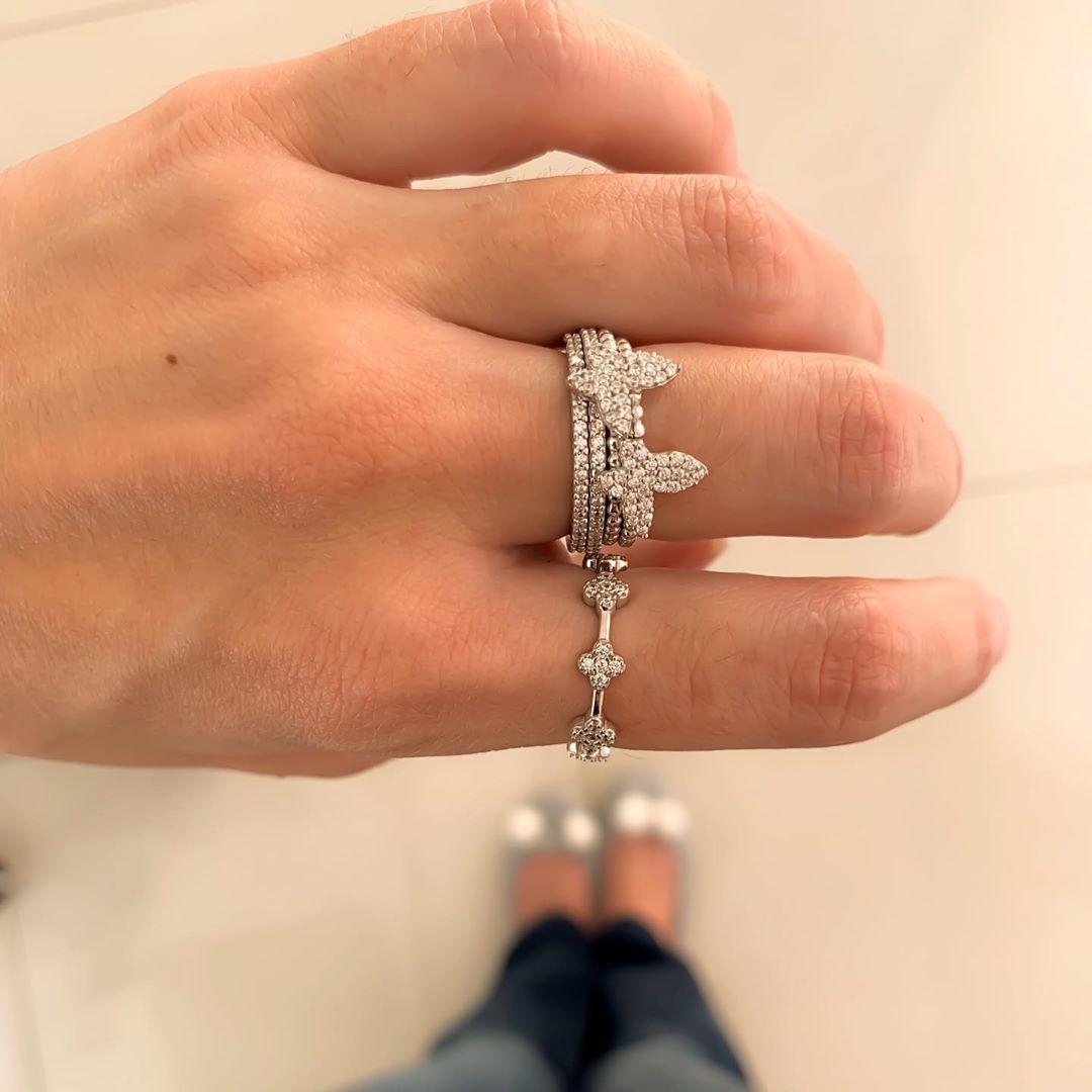anel de borboleta em prata 925