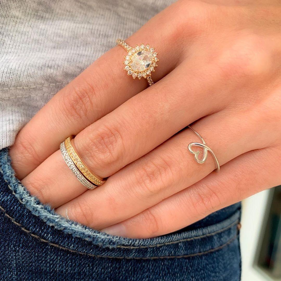 anel de coracao feito a mao