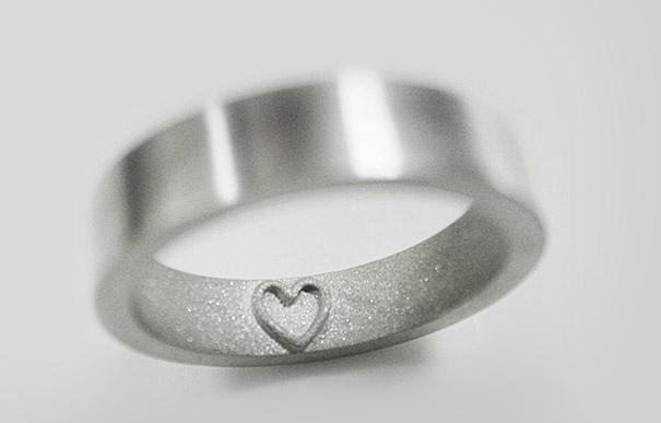 anel de noivado coraçao interno