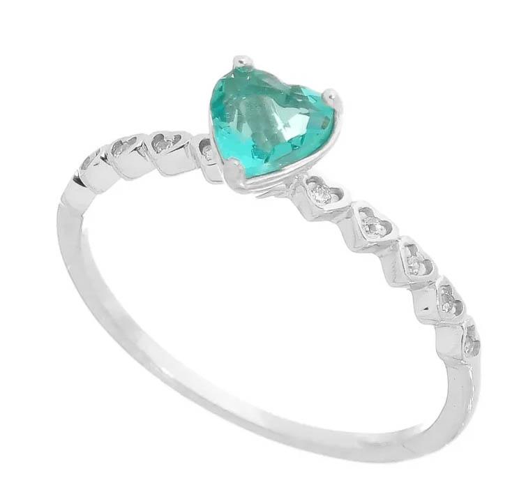 anel de noivado de coraçao
