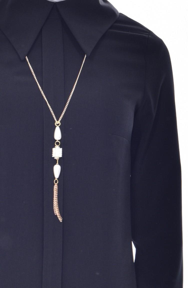 colares longos com camisa