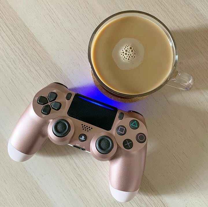 controle video game rose