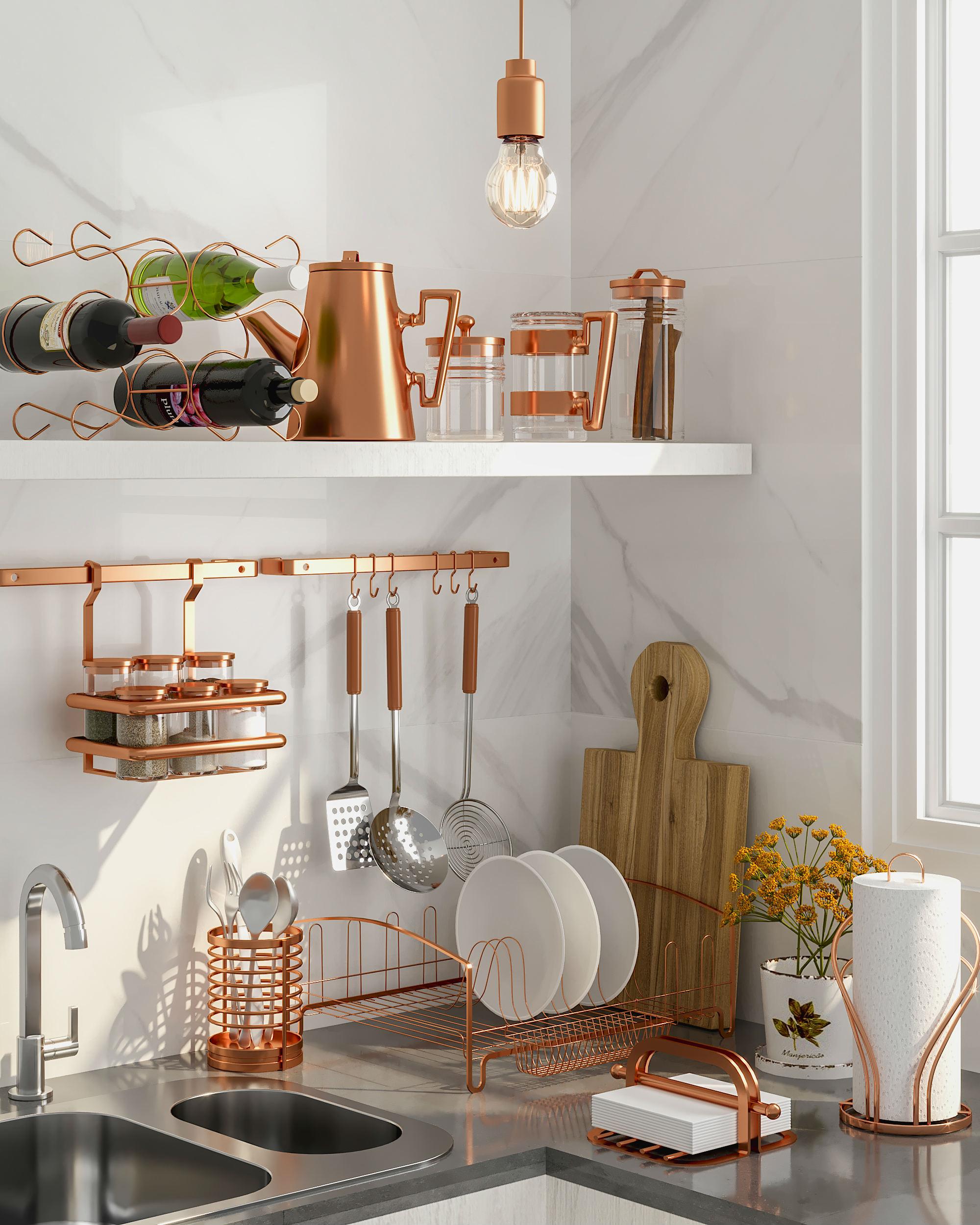 ouro rose cozinha