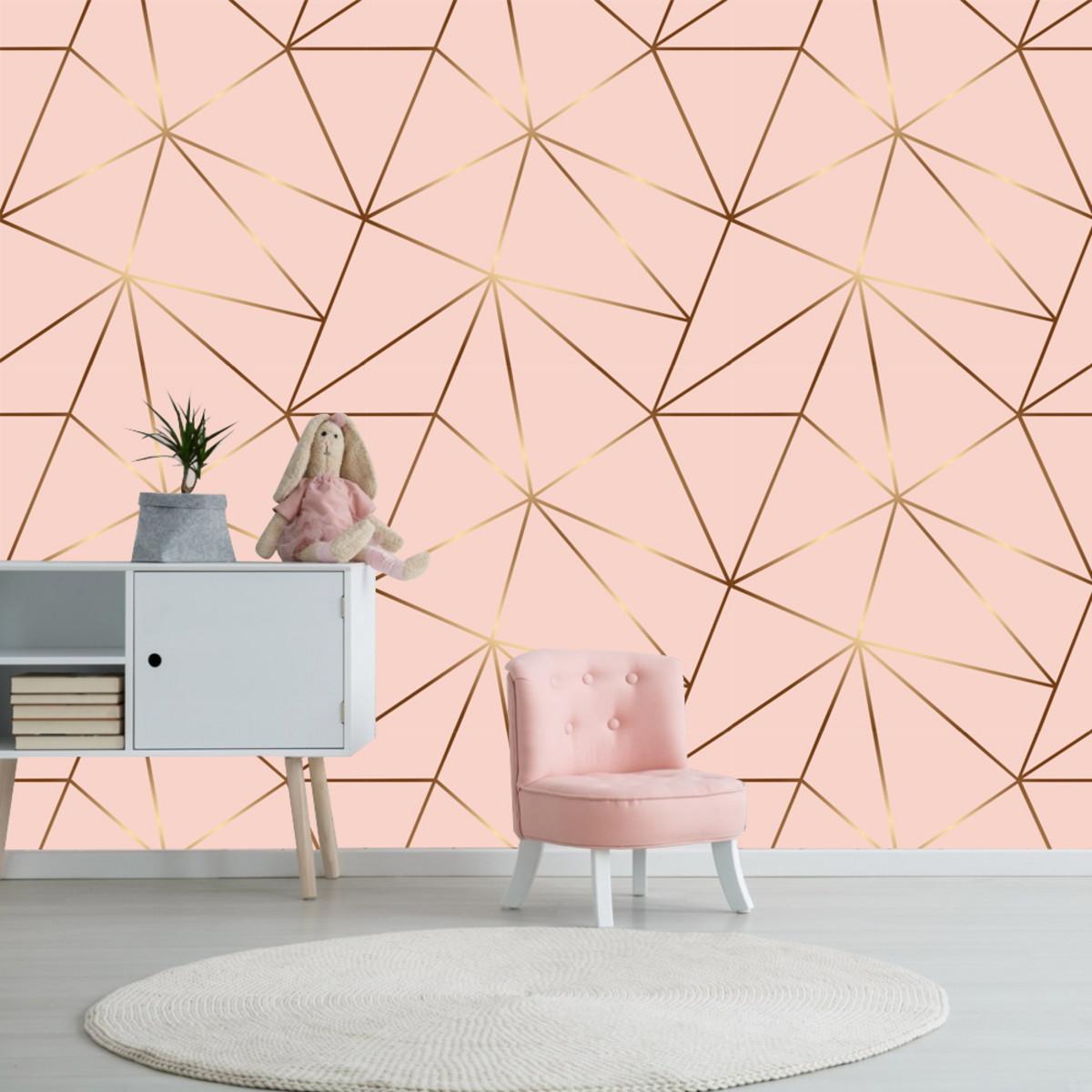 papel de parede rose gold