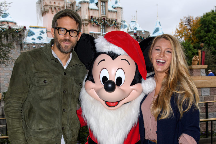 Ryan Reynolds And Blake Lively Celebrate The Holidays At Disneyland