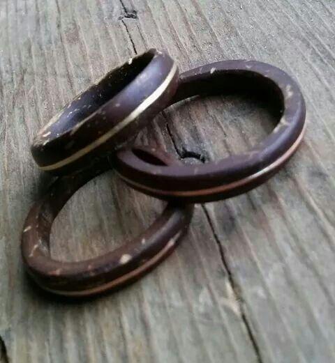 anel de coco tocum alianca