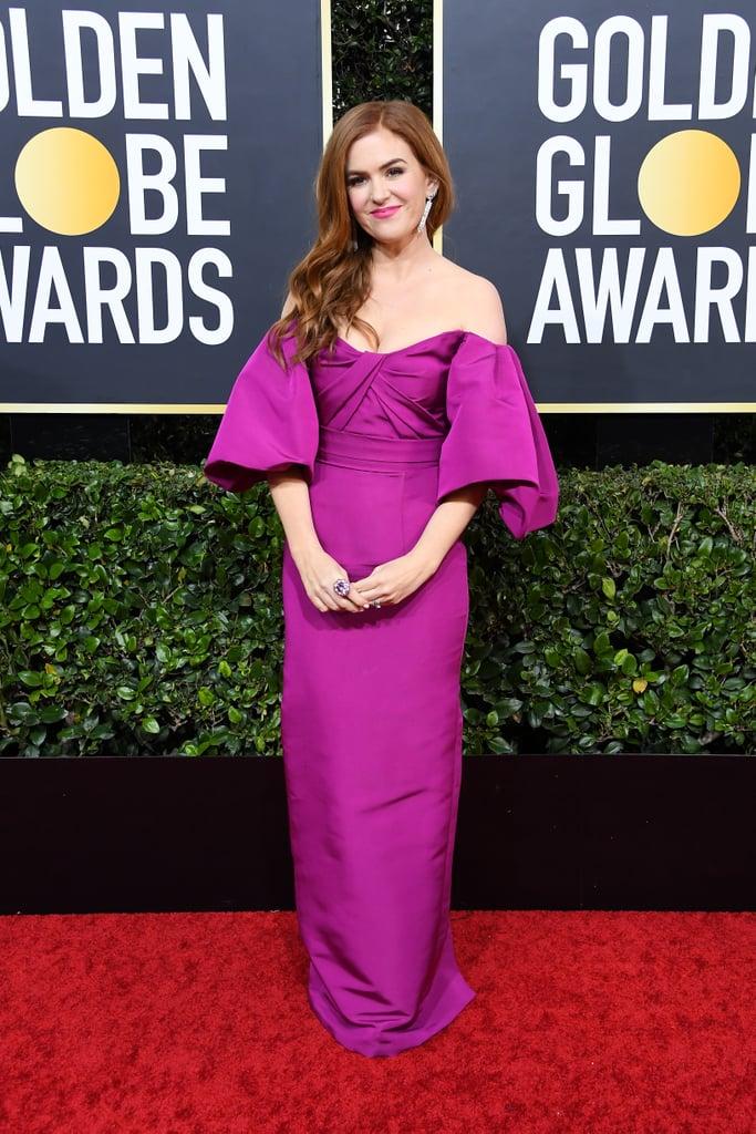 Look de Isla Fisher no Golden Globes 2020