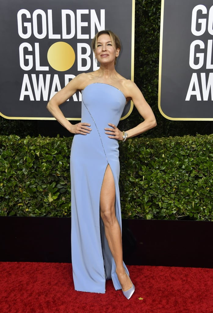 Renée Zellweger no Globo de Ouro 2020