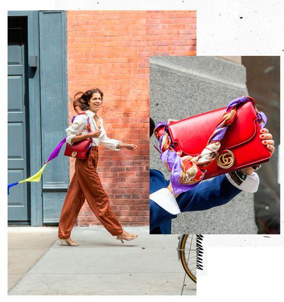 Como usar lenços em bolsas