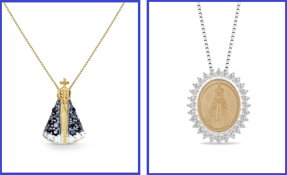 Dois colares de Nossa Senhora